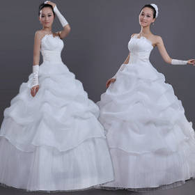 New 2015 White Sexy Off Shoulder Backless Flower Bride Wedding Sweet Princess Slim Wedding Dress Formal Gown Vestido De Noiva