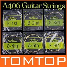Alice A406 Acoustic Guitar Strings Guitar Accessories 6pcs/set Top Quality