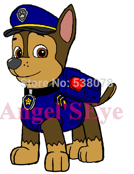 Custom Cartoon German Shepherd Paw Patrol Chase Xondriko Custom