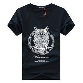 new arrival men fashion 2015 summer style high quality men's tshirt cotton cartoon OWL animal printed T shirt men brand tee 5XL