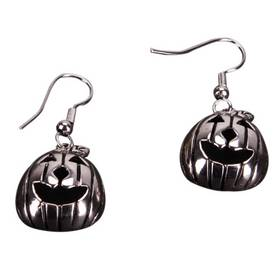 Charming Pumpkin Shaped Earrings Silver
