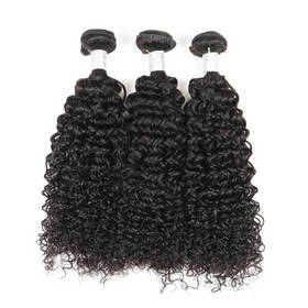 Rebecca 3Pcs/Lot Curly Brazilian Virgin Human Hair Weft/Weaves R5