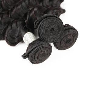 Rebecca 3Pcs/Lot Deep Wave Brazilian Virgin Human Hair Weft/Weaves R5