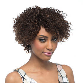 Rebecca Human Hair Kinky Curly Middle Length Lace Front Wig 12 Inch