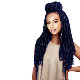 Rebecca Synthetic Hair Faux Dread Locs Crochet Braid 18 Inch Extension