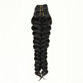 Rebecca Brazilian Hair Weave African American Curly Loose Wave 3pcs/pack Extension