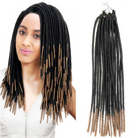 Rebecca Synthetic Hair Ombre Faux Locks Crochet Braids 1pc/pack 20 Inch Extension