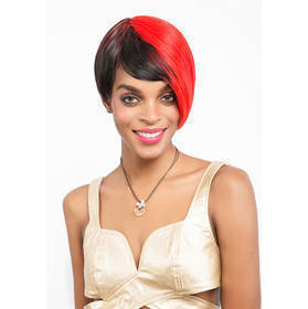 Synthetic Hair Machine Made Straight Wig Heat Resistant Fiber Hair Wig For Women Short 7 Inch 0634