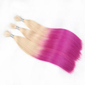Ombre Brazilian Non Remy Bulk Hair T20/VIOLET Keratin Bond Human Hair Extensions Straight Natural Afro Extensions 1PC