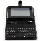 1pcs Leather case with usb keyboard bracket for 10.2 inch apad epad  table PC Netbook