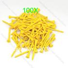 V115 100pcs 70mm Brand New Golf Ball Wood Tee Tees Yellow Free Shipping