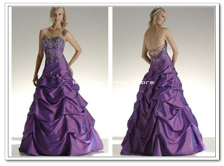 Beautiful Purple And Gold Wedding Dresses Contemporary - Styles ...