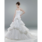 Beautiful ! A-Line/ Sweetheart Neckline -Up Back of the bride wedding dresses....6