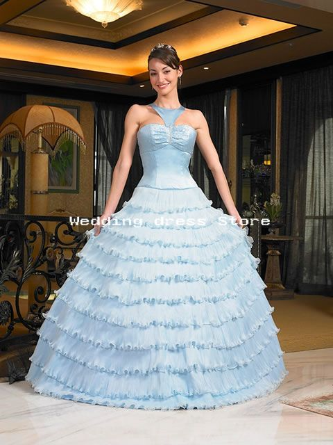 06 Wedding Dress Sky Blue Gown