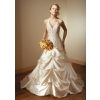 Wholesale - free shipping high quality Ivory embroider satin Wedding bride gown Dress all size color  #17