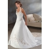 Wholesale - free shipping high quality Ivory embroider satin Wedding bride gown Dress all size color  gy1
