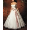 New style Sexy Strapless evening gown Dresses , evening gown White / ivory Embroidery satin   dress 60