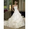 2010 style brides /A-Line Strapless Applique Sequins Large fold Cathedral train satin /taffeta/chiffon wedding dress  wedding dresses