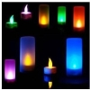 free shipping wholesale 100pcs Christmas gift New Flicking LED 7 Color Change flameless lights Candle