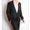 Wholesale---Free shipping brandnew Men's suit fress for man,come with top and pants,Dark gray spots mic    hj55