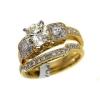 free shipping 2.19 ct  Cut Round Wedding Rings