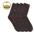 VANCL 4-Pack Combed Cotton Socks (Men's) Brown SKU:172202