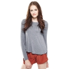 VANCL [VT] Isabelle Long Sleeve Flare Tee (Women) Gray SKU:181562