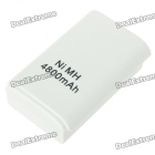 """Rechargeable """"4800mAh"""" Battery for Xbox 360 Slim Controller (White)"""