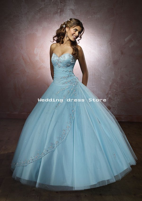 07 Wedding Dress Sky Blue Embroidery Satin Gown W Wholesale 07 Wedding Dress Sky Blue