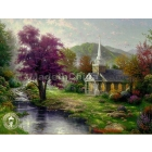 Free Shipping  Kinkade oil painting repro on canvas Of Living Waters 24x36 inches