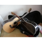 free shipping wholesale Top quality D45 ACOUSTIC GUITAR NATURAL BEST VENEER guitar with Fisherman pick-up and with case