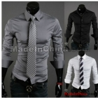 Wholesale - NEW men's clothes Casual Slim Men's shirts fashion long sleeve Mens shirts