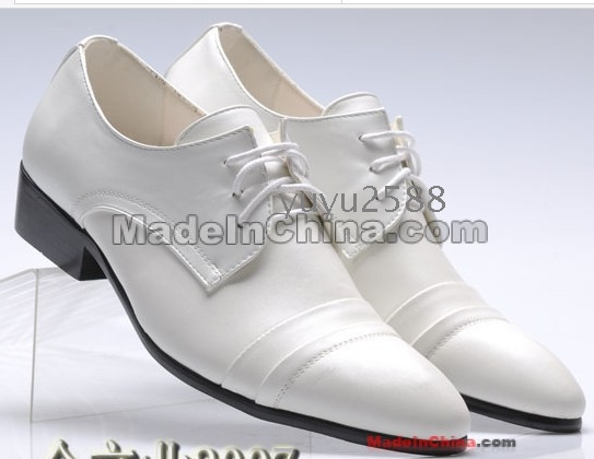 2012 white wedding shoes men dress shoes casual
