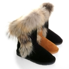 latest style boots FOX fur boots girl's boots shoes women's Snow Winter Boots