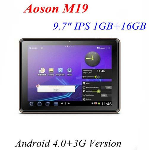aoson m19 tablet pc android 2 3 9 7 inches 3g ips screen capacitive 1 2ghz and others are