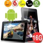 "Huawei MediaPad 16GB Built-in 2G&3G Qualcomm Dual core 1.2GHz DDR3 1GB 7.0"" Capacity  Screen Android 4.0 GSM 3G WIFI GPS Dual Camera 720P HDMI Ta"
