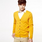 VANCL Martin All-Match Knit Cardigan (Men) Orange SKU:638582