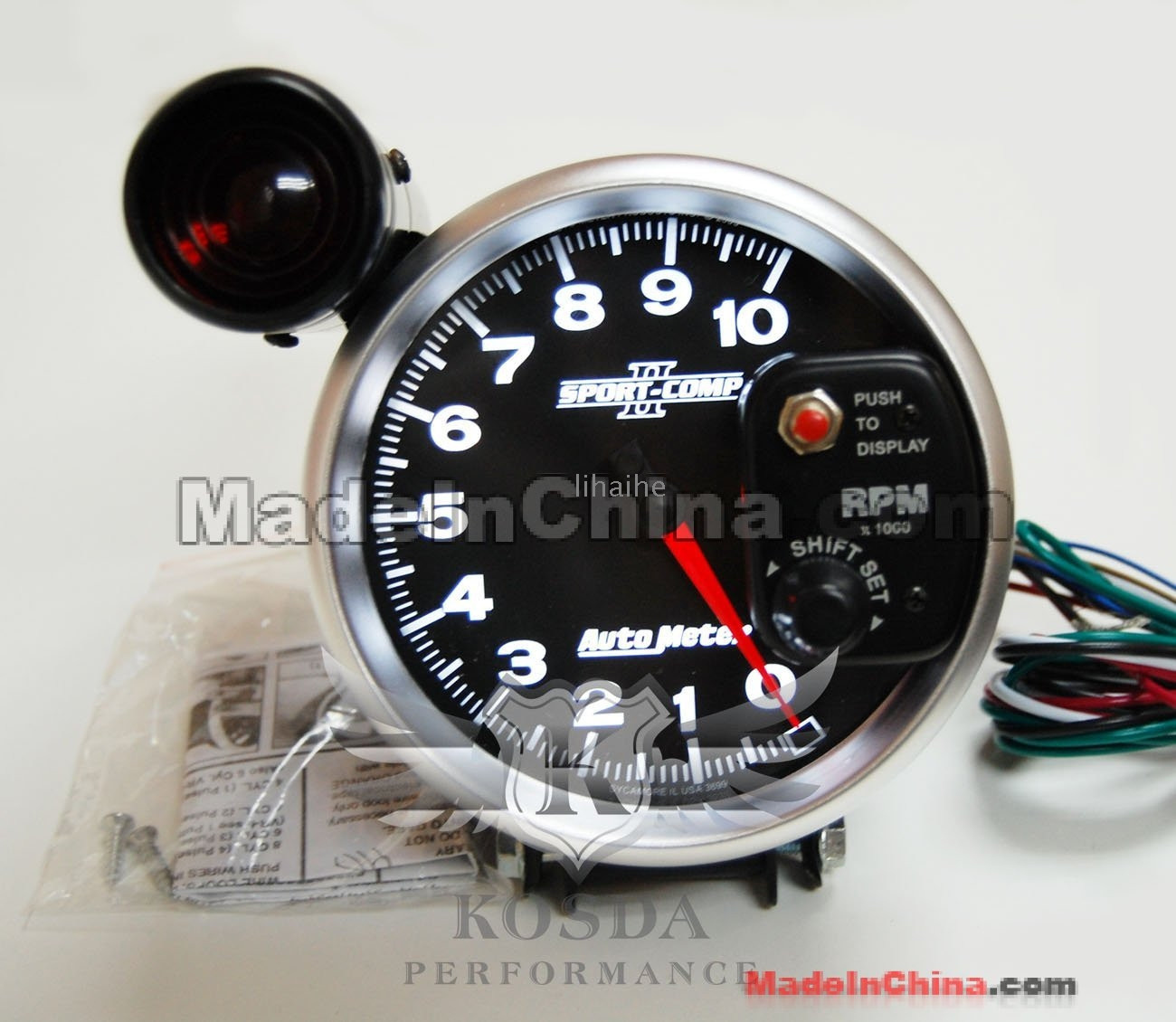 Auto Meter 3699 Sport-Comp II 5 10000 RPM Shift-Lite