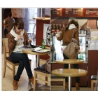 Free shipping HOT SALE Womens Korean Band Lap Leather Short Jacket Brown X09122707-1