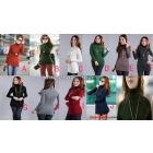 womens ladies girls Elastic High collar turtleneck long-sleeve Slim thickened knitted sweater