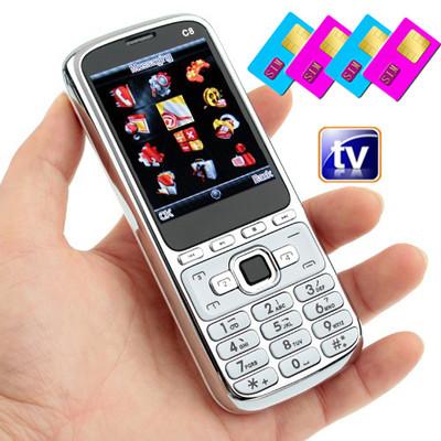 Unlocked Quad band 4 sim Analog TV mobile GSM – Wholesale ...