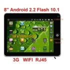 8 inch android 2.2 VIA 8650 FLASH 10.1 WIFI 3G RJ45 Ethernet 8650 Dual core 800MHZ Table PC laptop