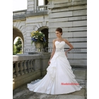 2012 New Style Satin Sweetheart Neckline Pleated Wedding Dress,A Line Wedding Dresses(W0058A)