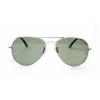 Wholesale - free shipping Best Quality Silver Frame Green Lens Men's Sunglasses Eyewear 20pcs/lot Come with Box