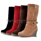 Free shipping - Comfortable han woman snow boots show thin zipper wedge casual shoes size 34-39
