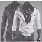 Wholesale -Free shipping - Slim mens Jacket casual Jacket mens Coat men's Outerwear gray men's hoodie XXL XL L M