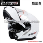 LS2 FF386 White Full Face Moudular Flip Up Dual Shield Sun Visor Motorcycle Helmet New
