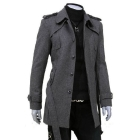 Wholesale free shipping stylish men fashion outerwear jacket trench dust coat woolen coats dustcoat weatherproof clothing