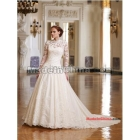 free shipping Wholesale -  by Kate Middleton Wedding Dress High r  Bodice Long Sleeves Wedding Dresses     #a21