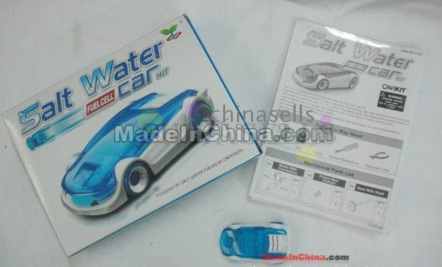 salt water powered toy car instructions